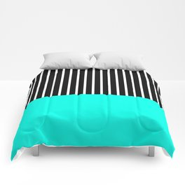 Half and Turq Comforters