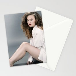 white shirt-12 Stationery Cards