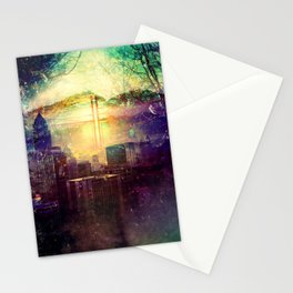 Abstract City Scape Stationery Cards