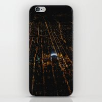 blackhawks iPhone & iPod Skins featuring United Center: A Standout Arena (Chicago Architecture Collection) by Bob Benenson Photo Art