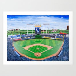 An Amazing Game at the K Art Print