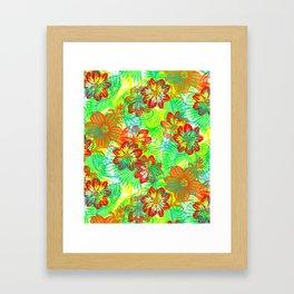 Etched Anemone Framed Art Print