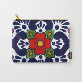 talavera mexican tile in blu Carry-All Pouch