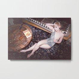 Girl On Rug Metal Print