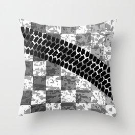 Flag Skid Mark Throw Pillow