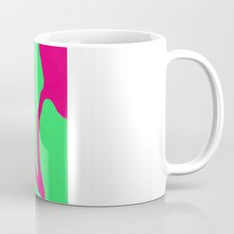 Green Pink Pattern Coffee Mug