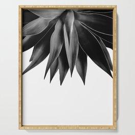 Agave fringe - noir Serving Tray