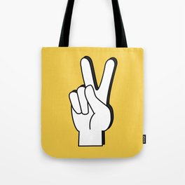 Peace Sign yellow Tote Bag