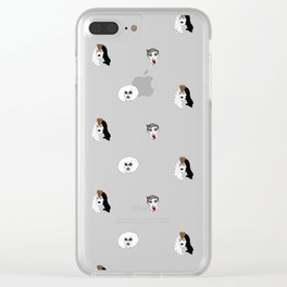 Sharon Needles pattern Clear iPhone Case