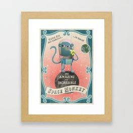 The Amazing Space Monkey Framed Art Print