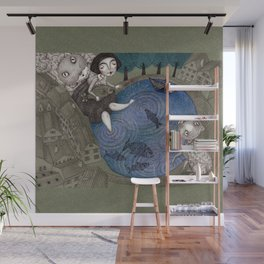 The Fish Pond Wall Mural