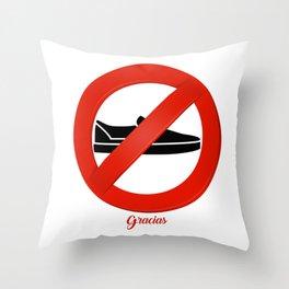 Shoes Off Gracias Throw Pillow