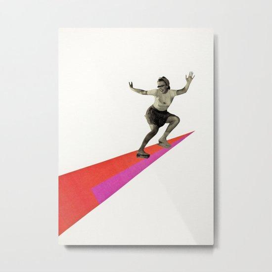 Skate the Day Away Metal Print