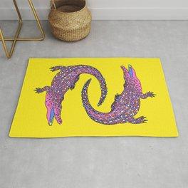 Crocodiles (Pop Art Palette) Rug