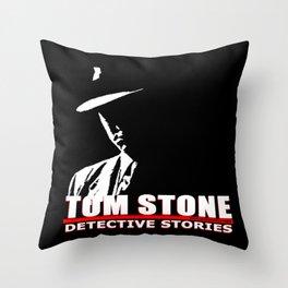 Tom Stone Detective Stories Throw Pillow