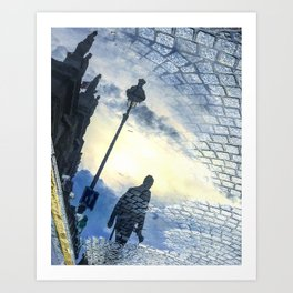 Walking Into Brickroad Sunset Art Print