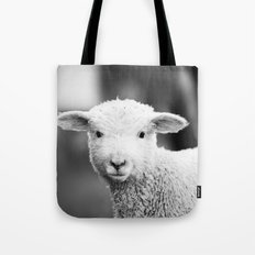 Lamb in Black and White Tote Bag