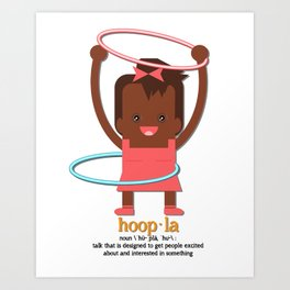 Hoopla Hula Hoop African American Girl Art Print