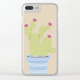 Suculents Cactus Plants Clear iPhone Case