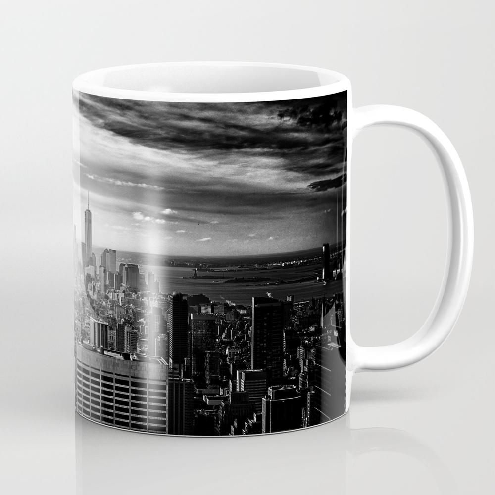 New York City Black White 2 Mug by Jsebouvi MUG8062192