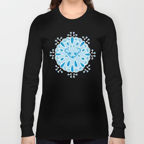 Hedgehog Paisley_Blue Pool Long Sleeve T-shirt