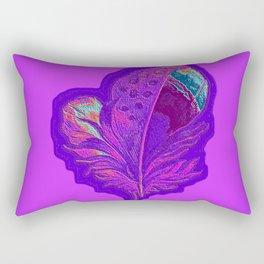 Lee's Purple Feather Rectangular Pillow