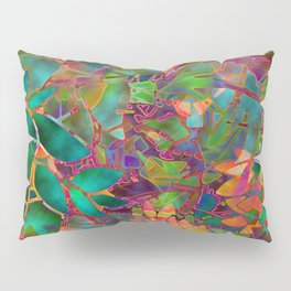 Floral Abstract Stained Glass G176 Pillow Sham