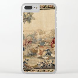 Aubusson  Antique French Tapestry Print Clear iPhone Case