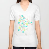 candy V-neck T-shirts featuring Candy by Louise Machado