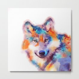 The Faithful - Wolf Metal Print