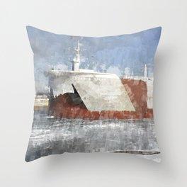 Edgar B Speer at West Pier Throw Pillow