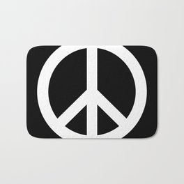 Peace (White & Black) Bath Mat