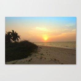 As The Sun Sits Canvas Print