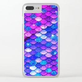 Mermaid Bubblegum Scales Clear iPhone Case