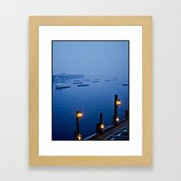 Camden Harbor, Maine - Color Framed Art Print