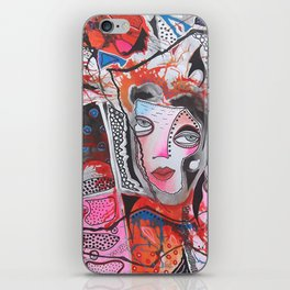 Lady In Pink And Orange iPhone Skin