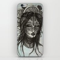 witch iPhone & iPod Skins featuring witch by ASTRA ZERO