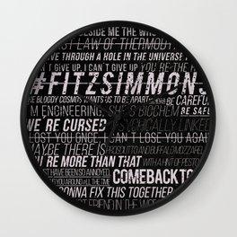 FS phrases B&W Wall Clock