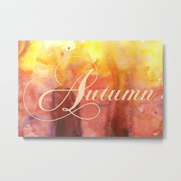 Watercolor Autumn Metal Print