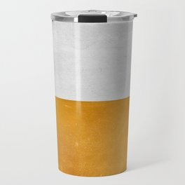 Wabi Sabi - Gold and Grey Texture Travel Mug