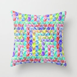 Multiple M Throw Pillow
