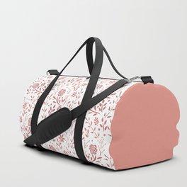 Fresh Floral - Rose Gold Duffle Bag