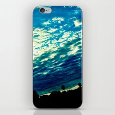 Over the shoulder clouds. iPhone & iPod Skin