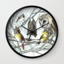 The Bat & the Warrior Birds Wall Clock