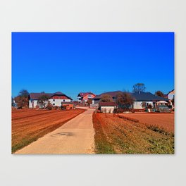 Peaceful countryside village scenery | landscape photography Canvas Print