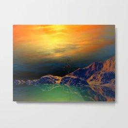 Sonnenuntergang über der Insel Metal Print