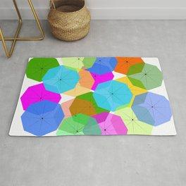Colorful umbrellas Rug