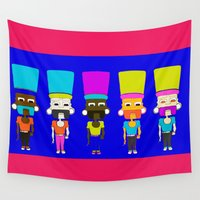 boys Wall Tapestries featuring Beedi Boys by Ink Weave