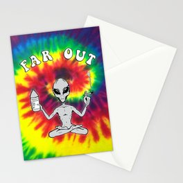 Far Out Alien (Tie Dye) Stationery Cards