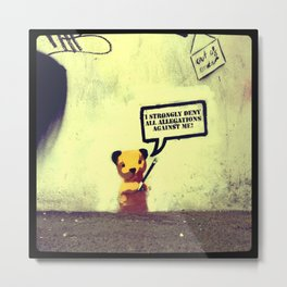 Sooty Denies Allegations Metal Print